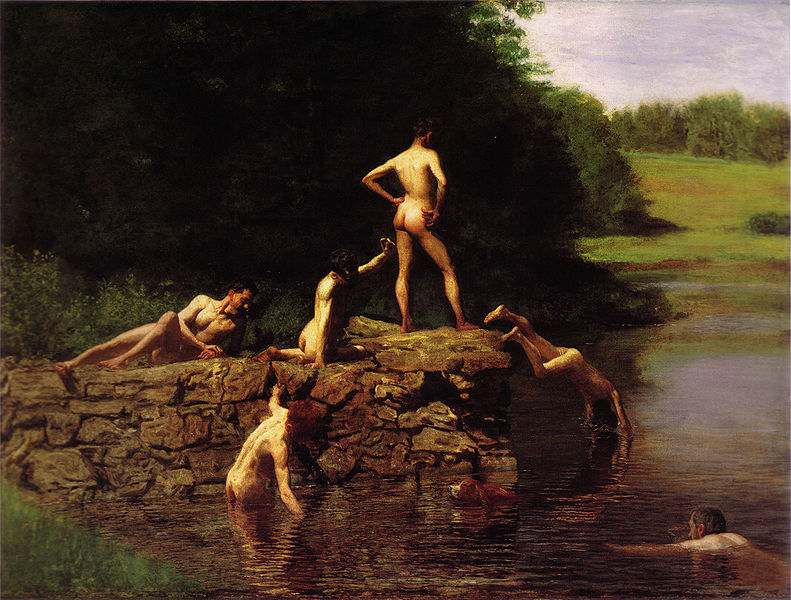 Join. First visit to nude swimming hole